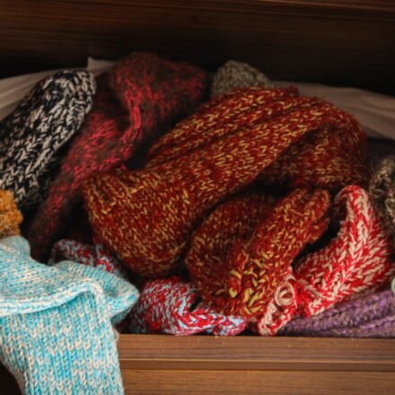 pile of wooly jumpers
